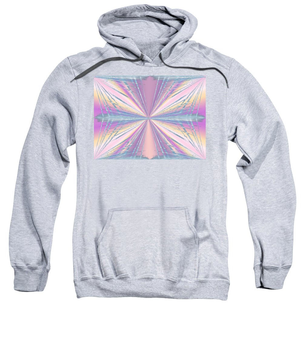 Abstract Sweatshirt featuring the digital art Frenzied by Tim Allen