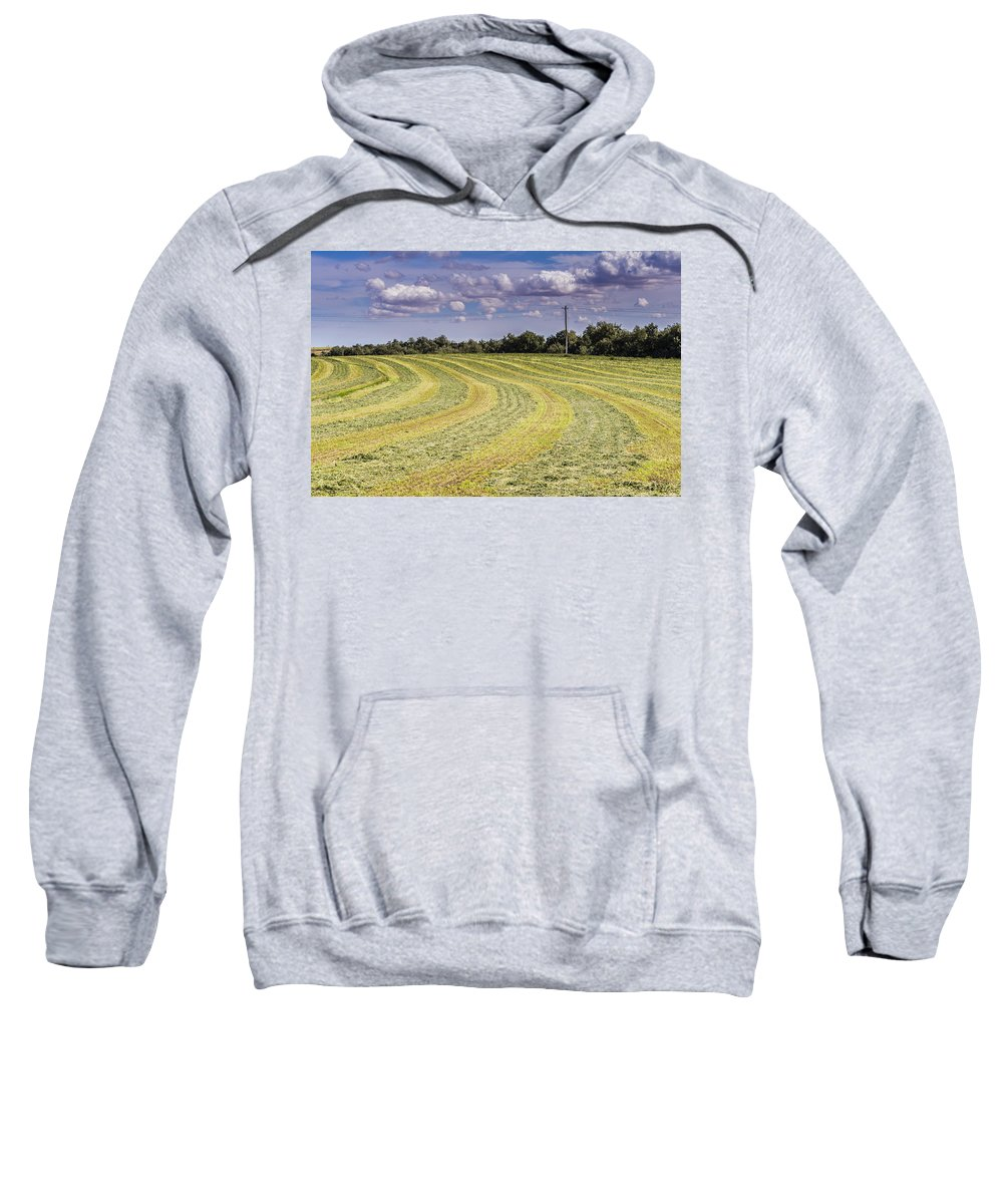 Summer Sweatshirt featuring the photograph Freshly Mown Hay by John Trax