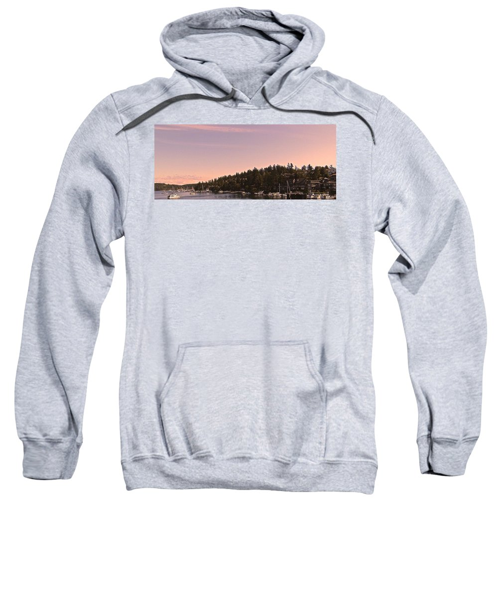 Friday Harbor Sweatshirt featuring the photograph Friday Harbor Panorama by Katy Granger