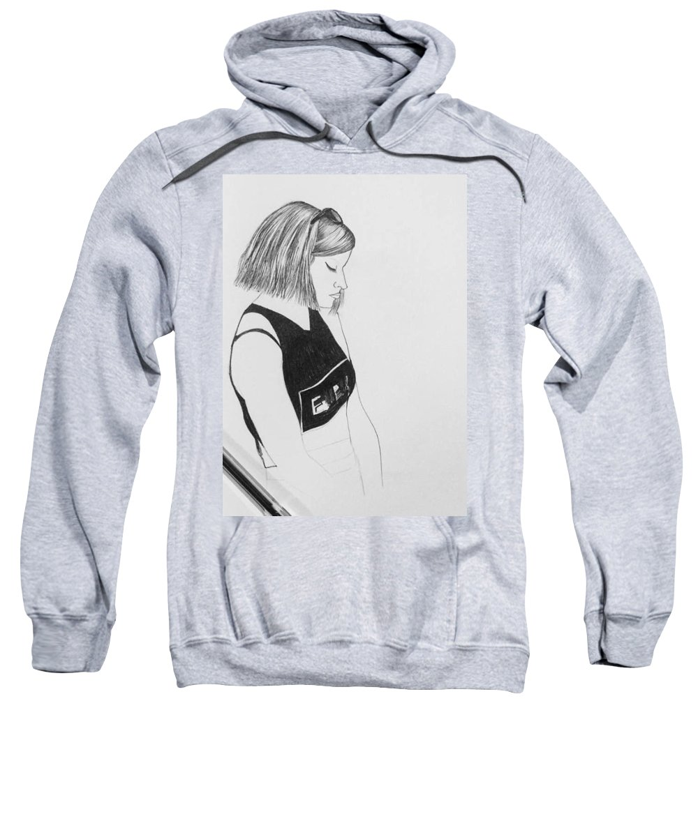 Figurative Sweatshirt featuring the painting Friend by Murali Gatti