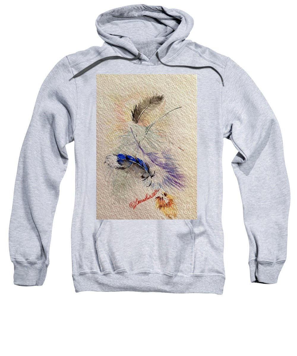 Artist Favorites Sweatshirt featuring the painting Friends Of A Feather by Laurel Adams