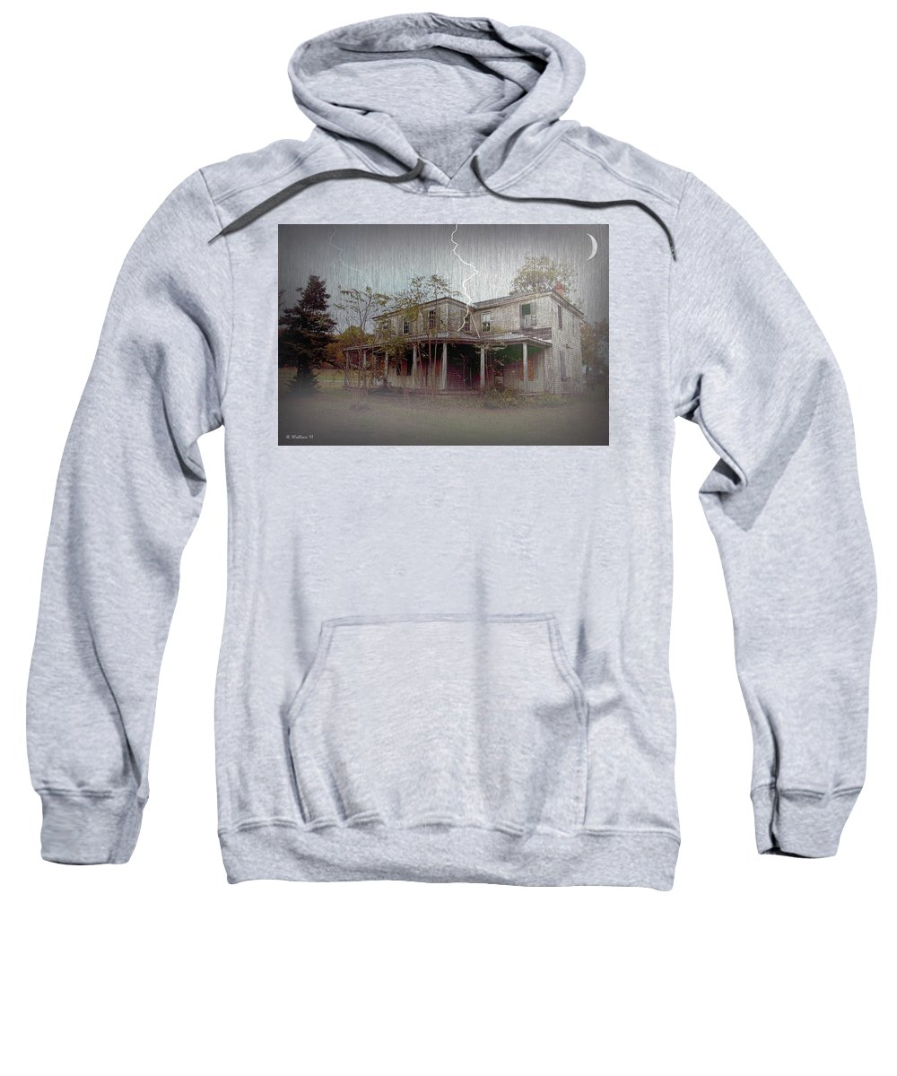 2d Sweatshirt featuring the photograph Frightening Lightning by Brian Wallace