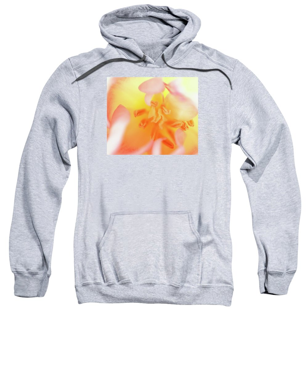 Internal Beauty Of A Tulip Sweatshirt featuring the photograph From The Heart by Bill Morgenstern
