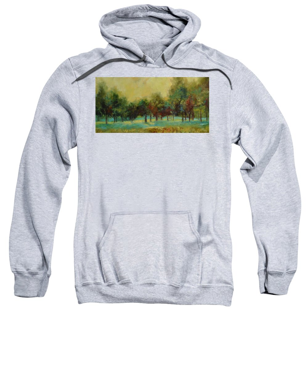 Pastoral Sweatshirt featuring the painting From The Other Side II by Ginger Concepcion