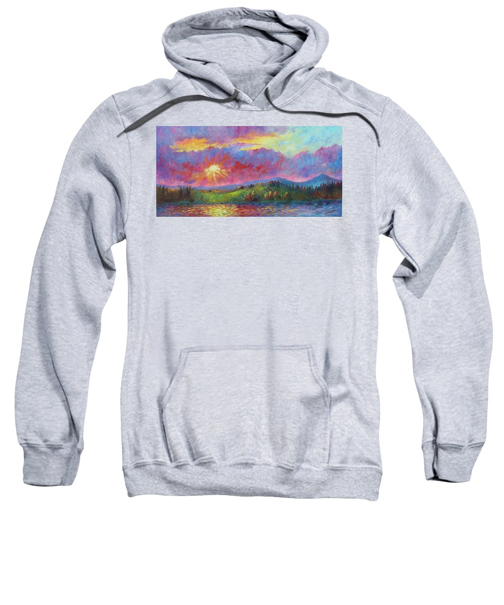 Landscape Sweatshirt featuring the painting Front Range Sunset by David G Paul