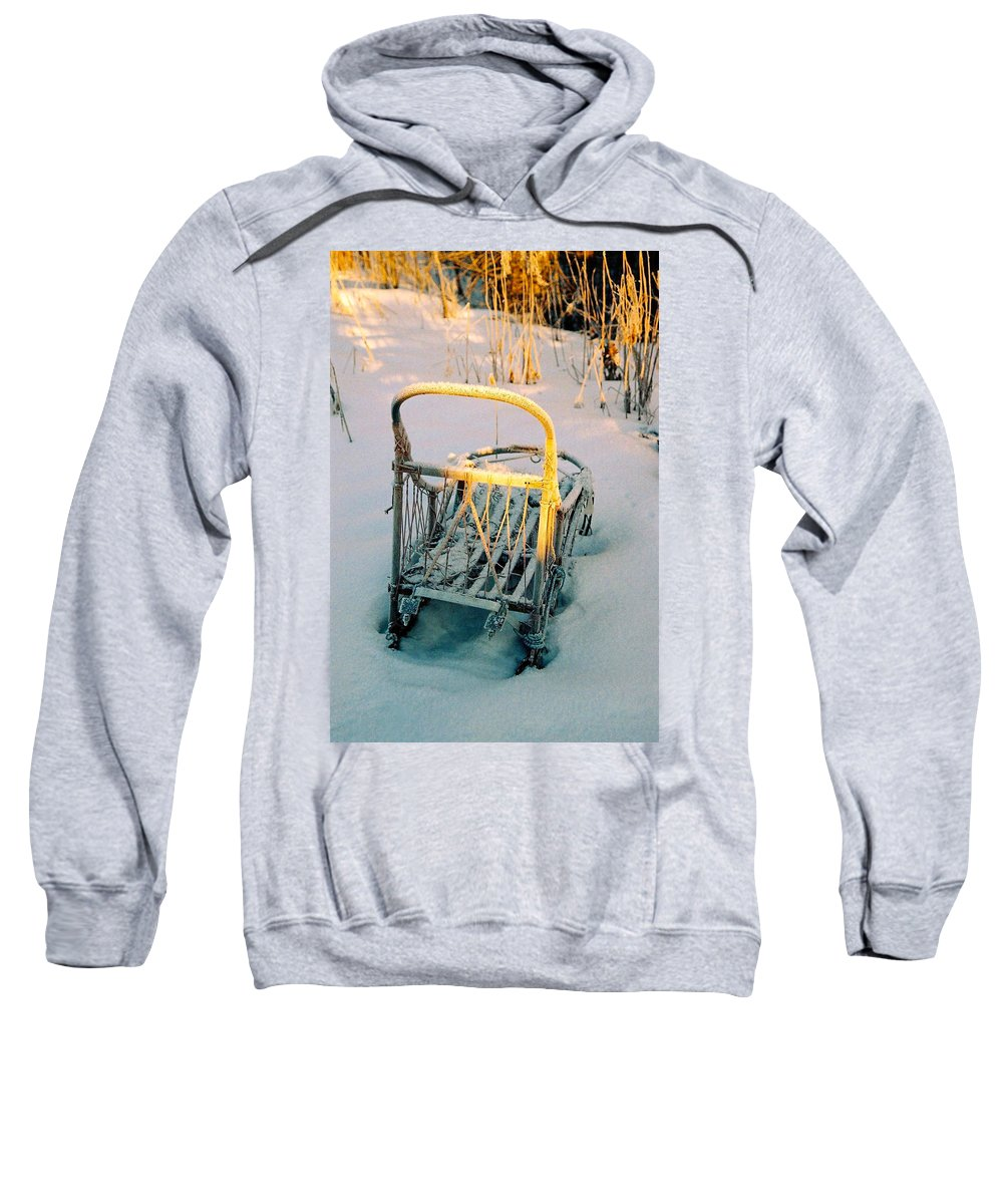 North America Sweatshirt featuring the photograph Frozen Dogsled by Juergen Weiss