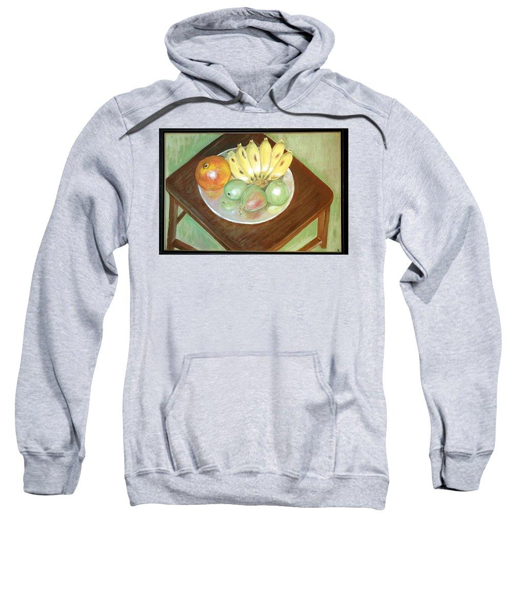 Fruits Sweatshirt featuring the painting Fruit Plate by Usha Shantharam