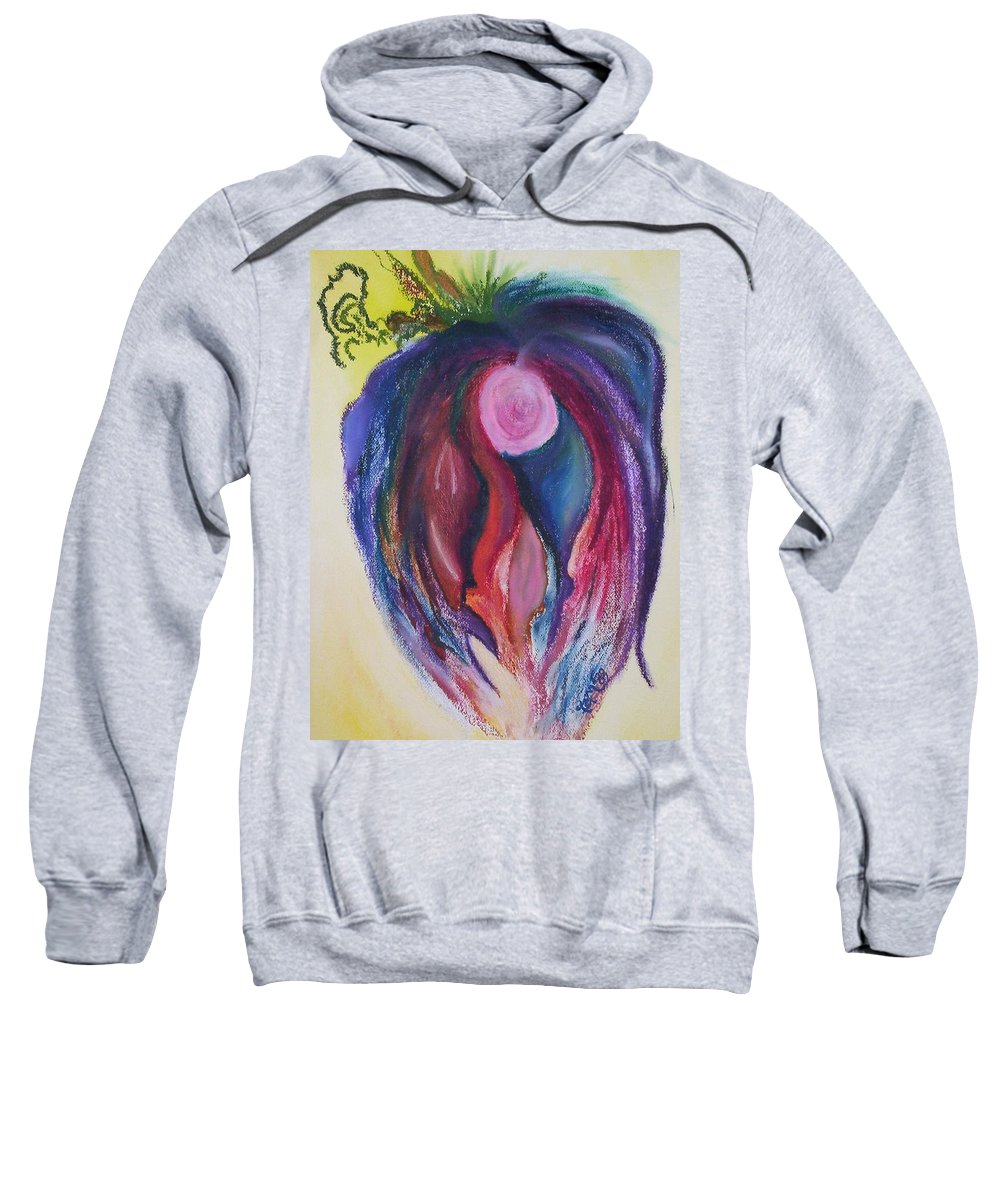 Abstract Sweatshirt featuring the painting Fruit by Suzanne Udell Levinger