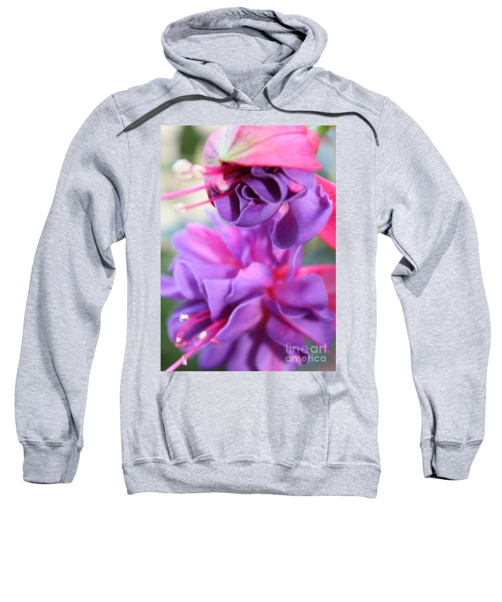 Florals Sweatshirt featuring the photograph Fuchsia Drama by Carol Groenen