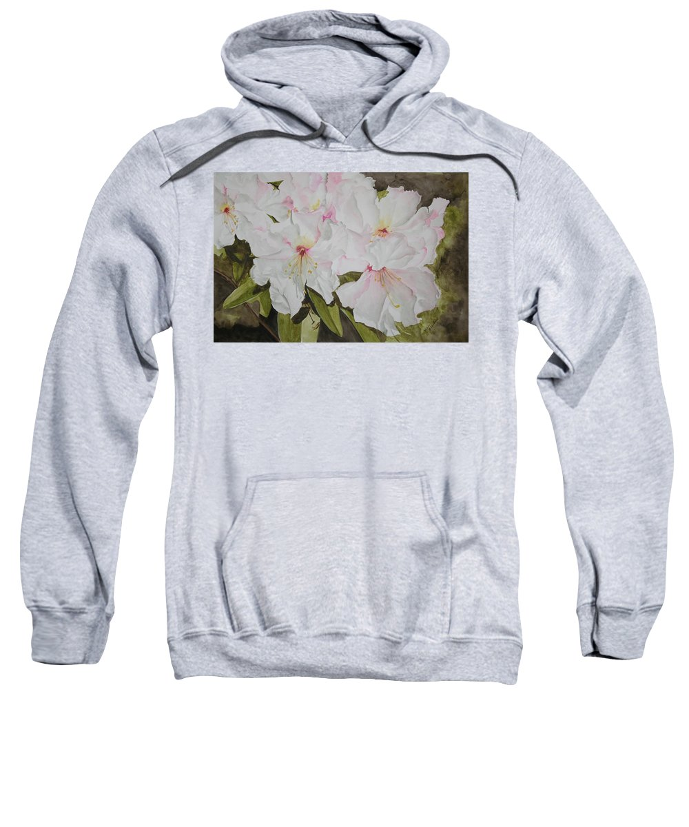 Flowers Sweatshirt featuring the painting Full Bloom by Jean Blackmer