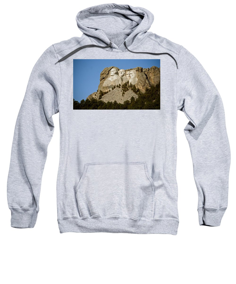 Mount Rushmore Sweatshirt featuring the photograph Full View Rushmore by Mike Oistad