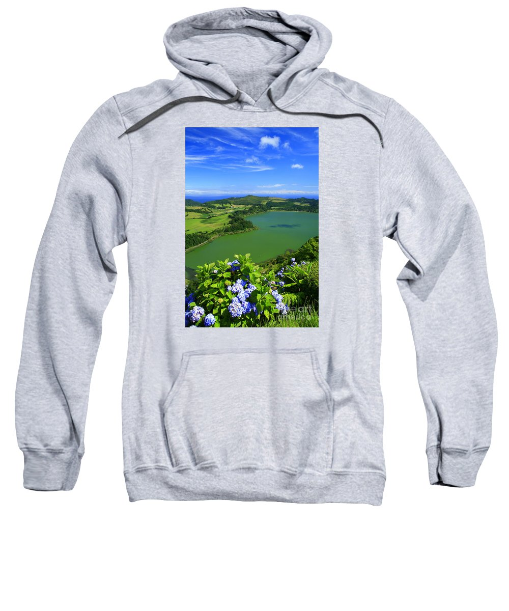 Azores Sweatshirt featuring the photograph Furnas Lake by Gaspar Avila