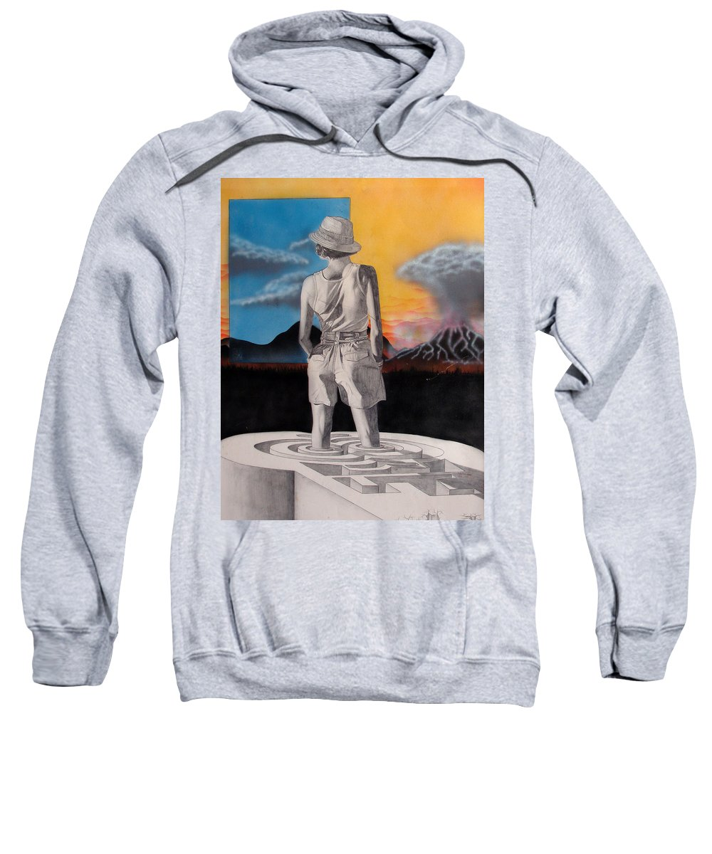 Shaun Sweatshirt featuring the painting Future by Shaun McNicholas