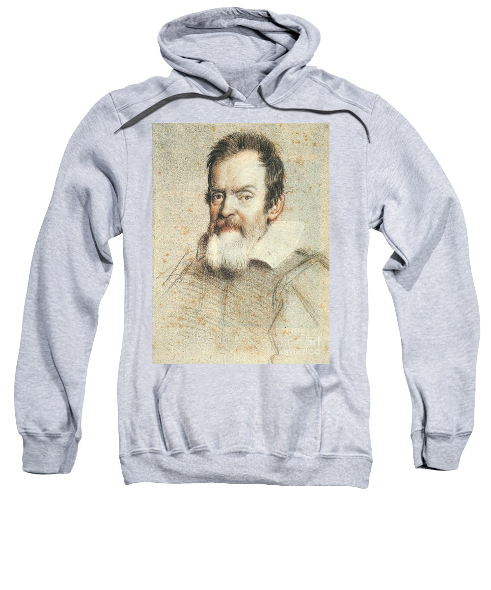 1624 Sweatshirt featuring the photograph Galileo Galilei by Granger
