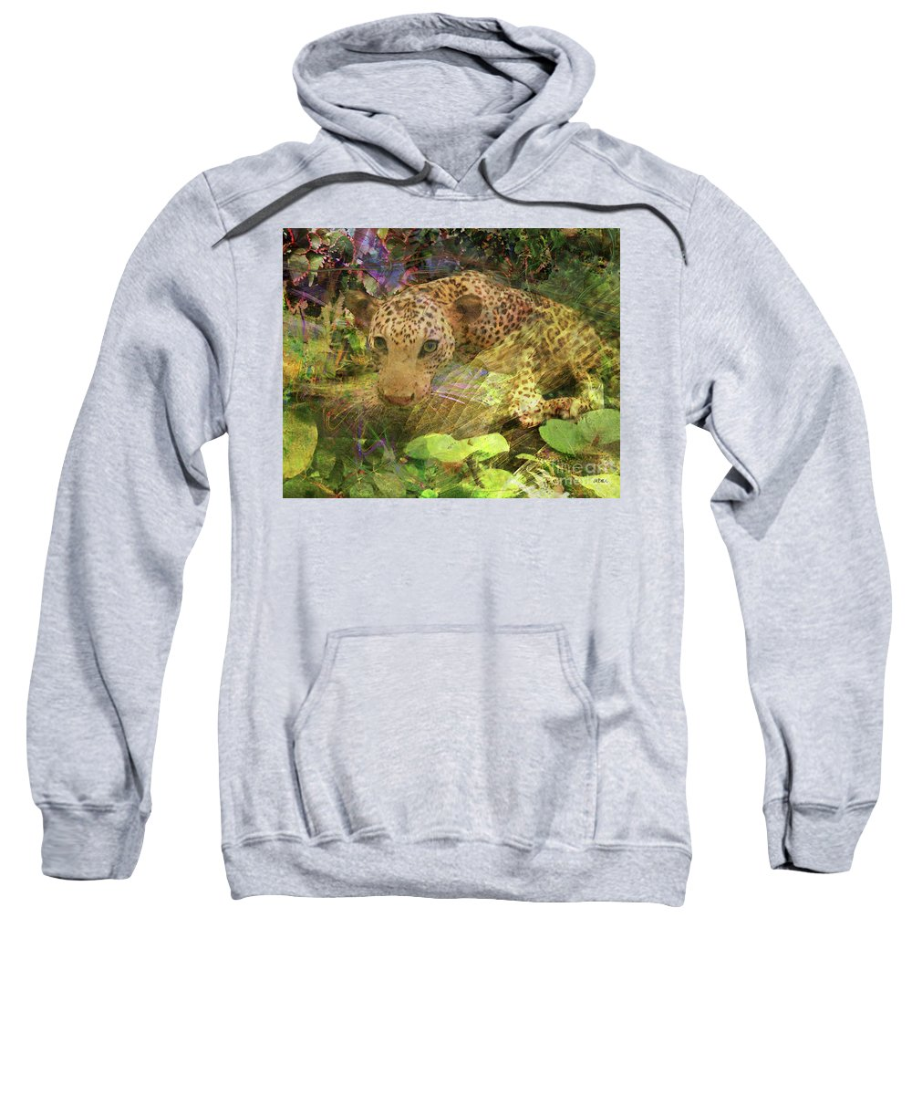 Game Spotting Sweatshirt featuring the digital art Game Spotting by John Beck