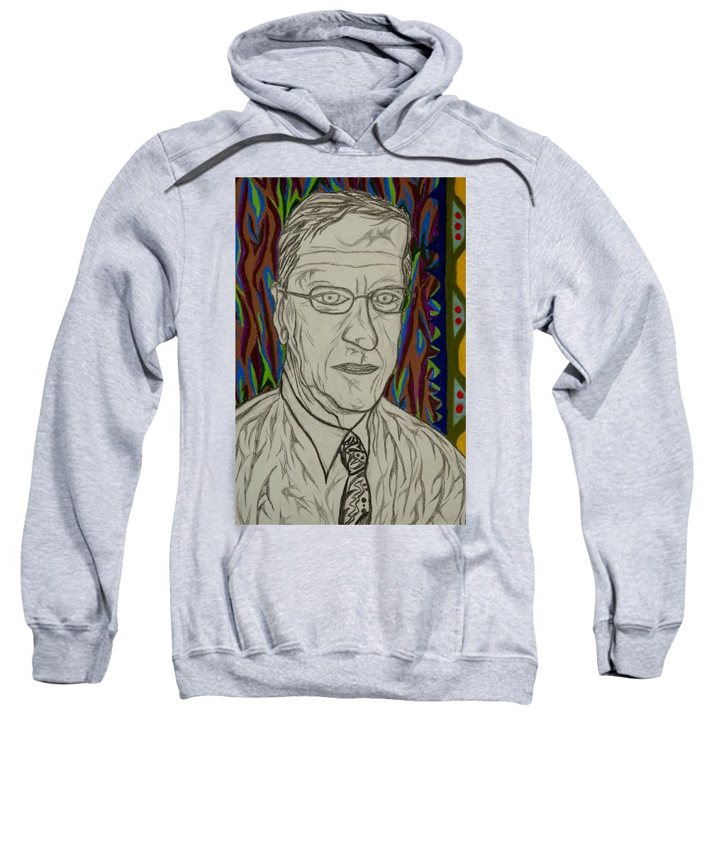 Portrait Sweatshirt featuring the painting Gang Of Four - Bob Reed by Robert SORENSEN