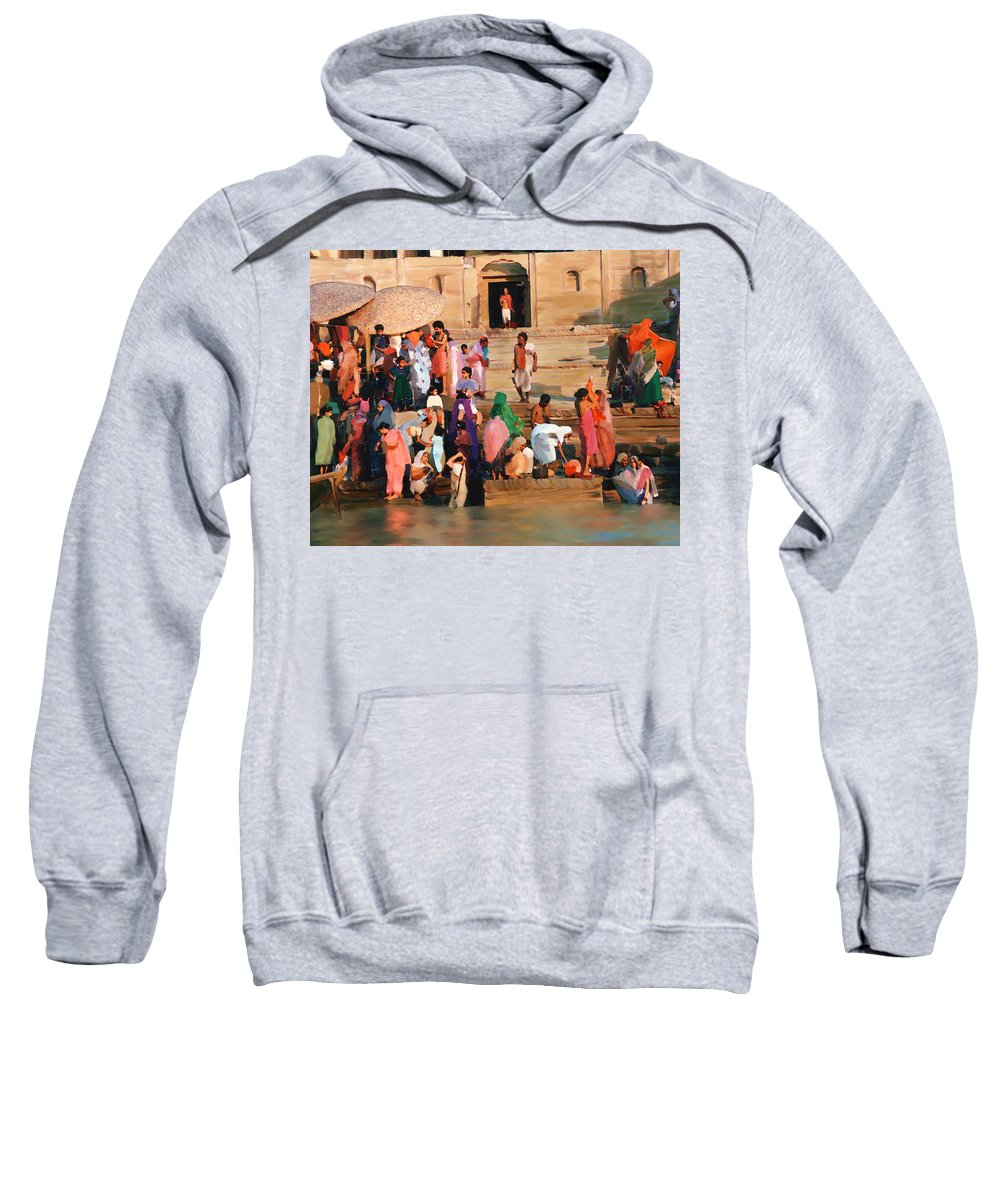 Ganges River Sweatshirt featuring the photograph Ganges by Kurt Van Wagner