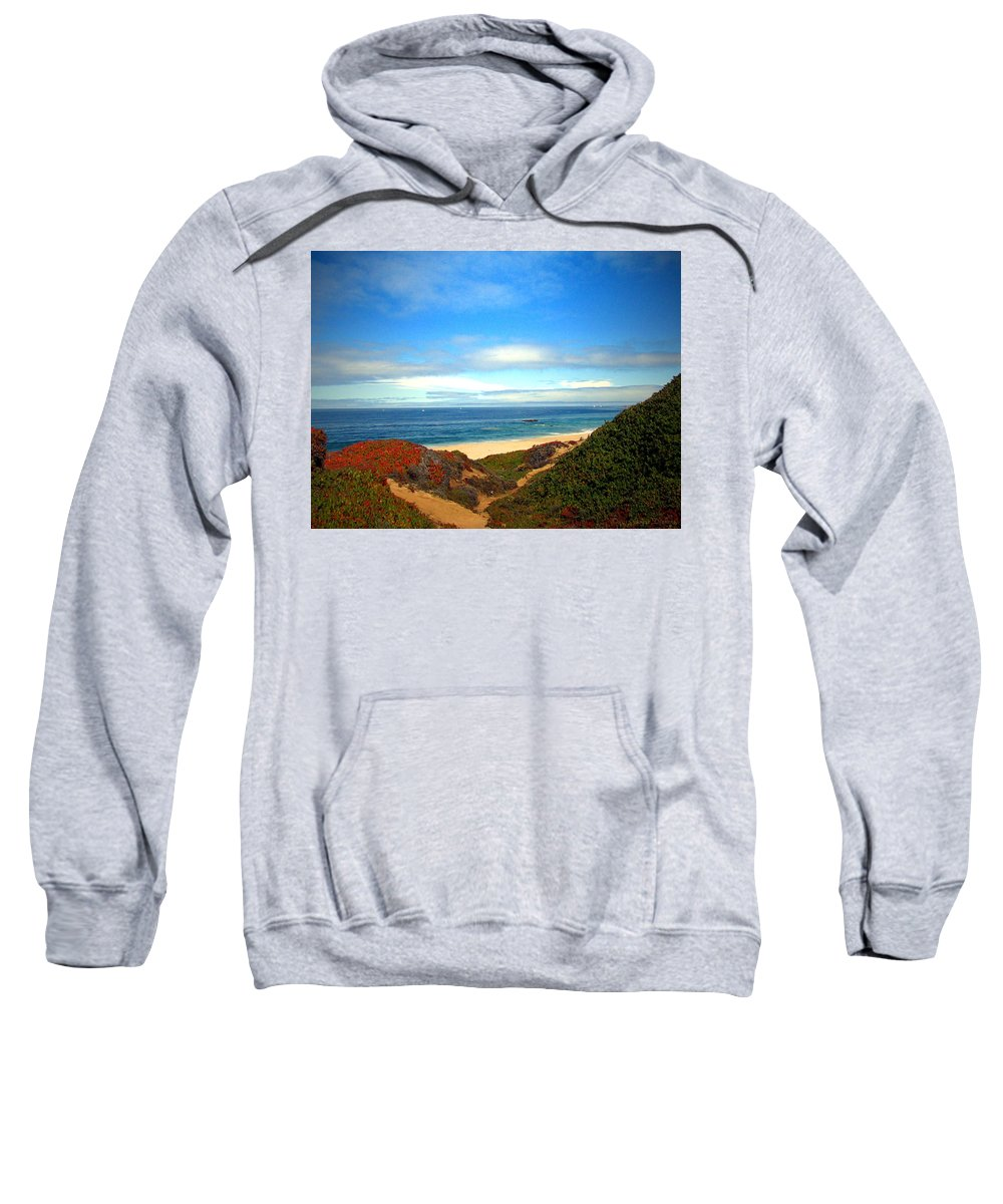 Garapata-state-park Sweatshirt featuring the photograph Garapata State Park South Of Monterey Ca Seven by Joyce Dickens