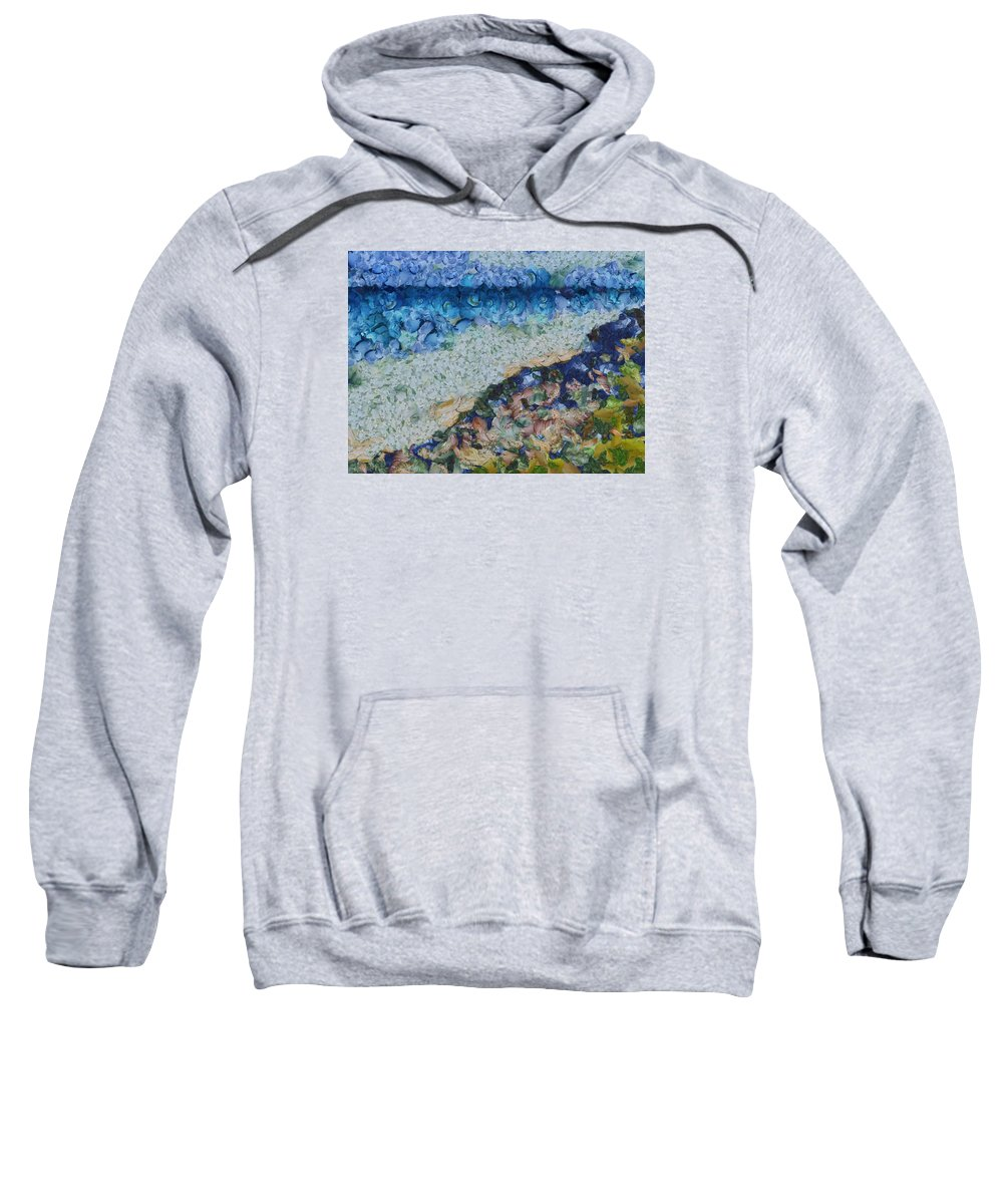 Garbage Sweatshirt featuring the photograph Garbage Near A River by Ashish Agarwal