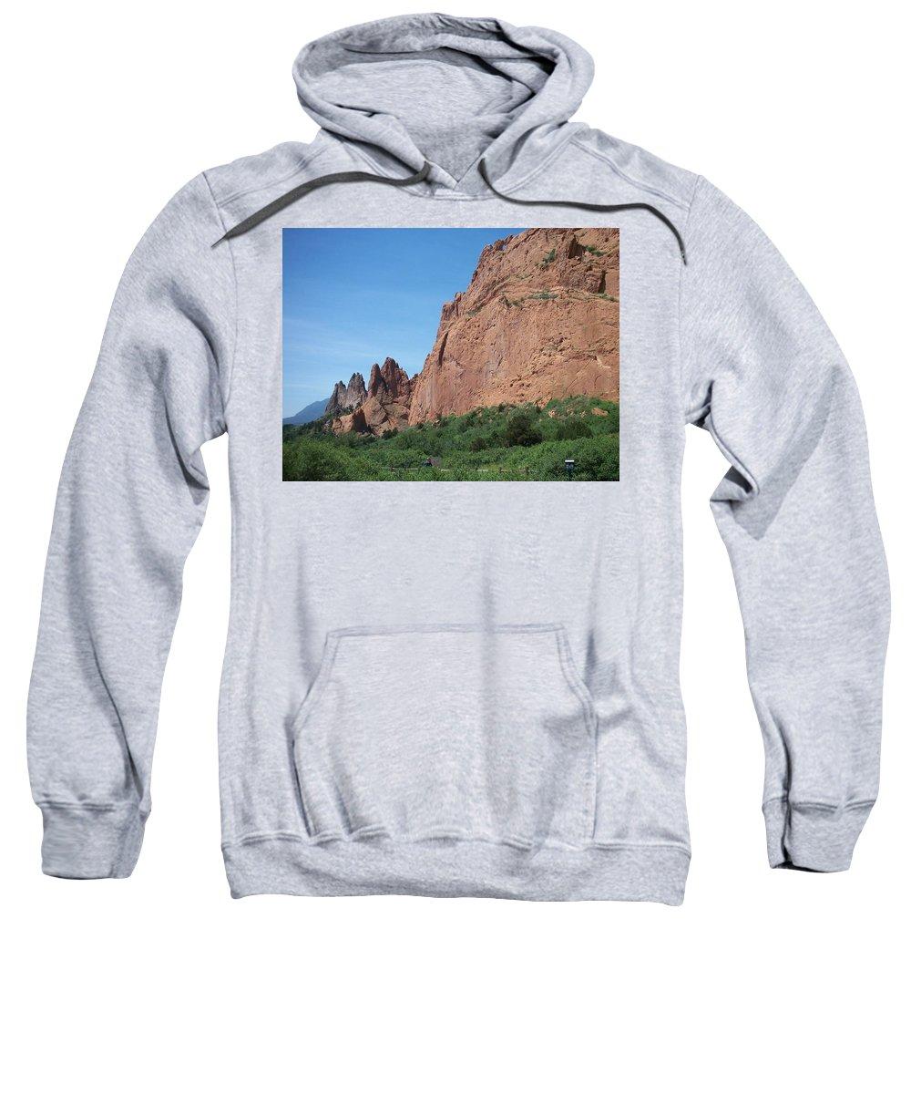 Colorado Sweatshirt featuring the photograph Garden Of The Gods by Anita Burgermeister