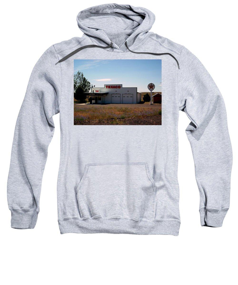 Gas Sweatshirt featuring the photograph Gas Station by Sara Stevenson