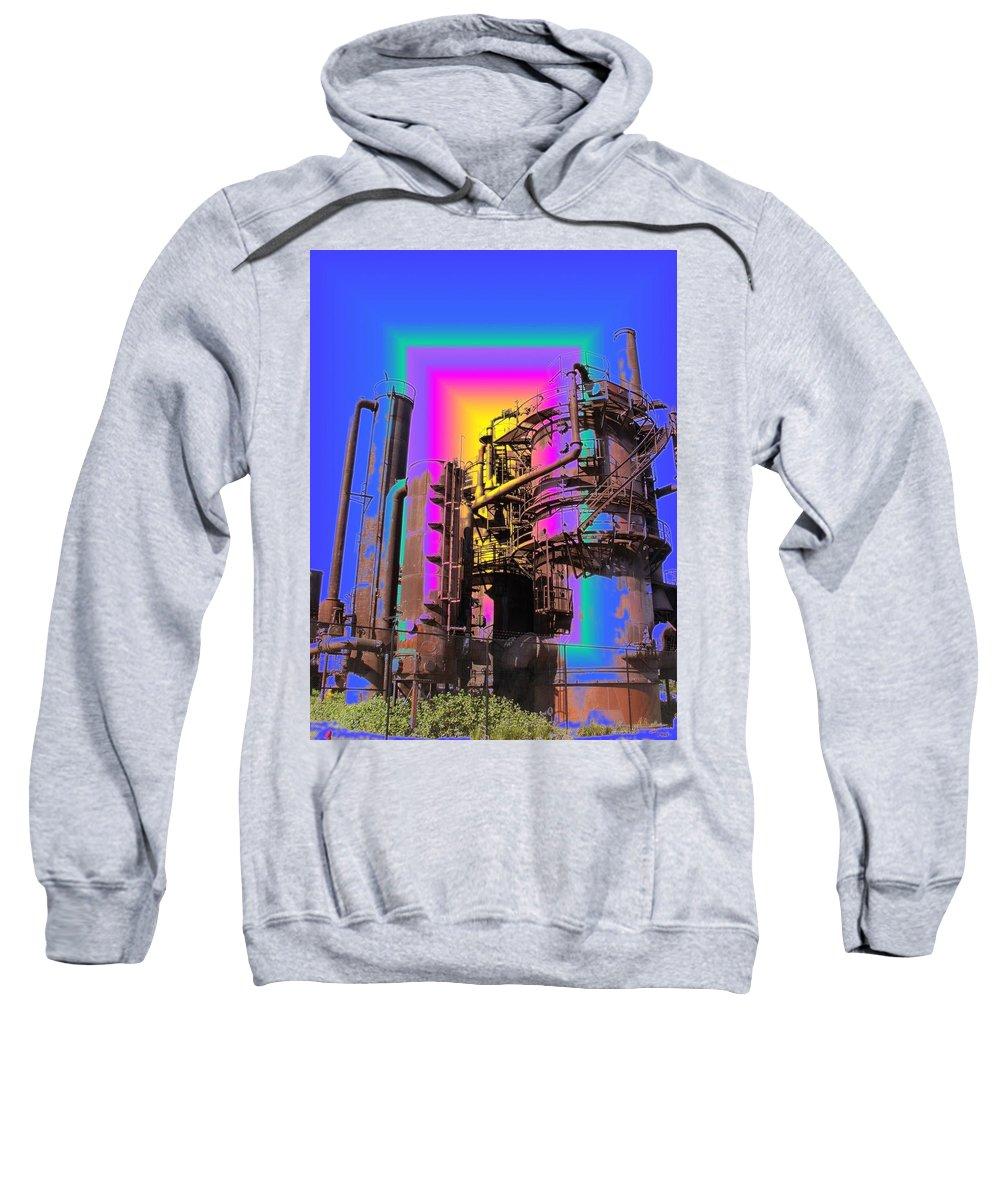 Seatttle Sweatshirt featuring the digital art Gasworks Park 2 by Tim Allen