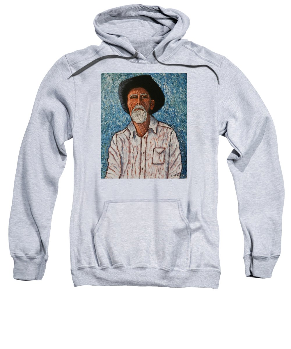 Figure Sweatshirt featuring the painting The Last Ride.out Of Chute #1 by Frank Morrison