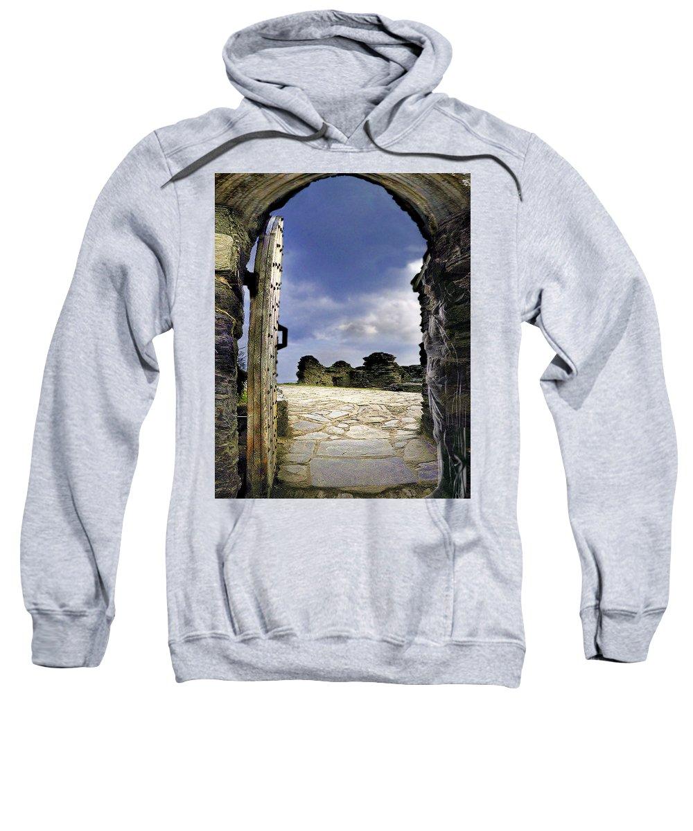 Castle Sweatshirt featuring the digital art Gateway To The Castle by Vicki Lea Eggen
