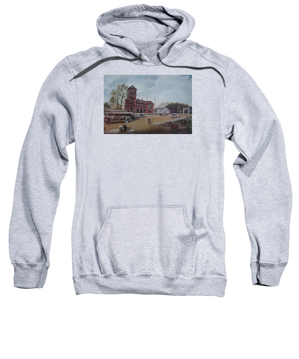 Charles Roy Smith Sweatshirt featuring the painting Gateway To The Queen City by Charles Roy Smith