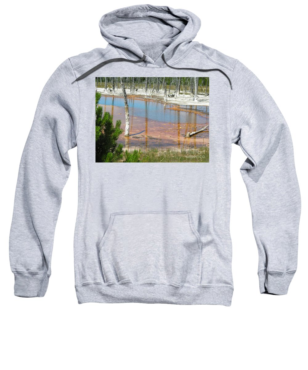 Griser Sweatshirt featuring the photograph Geisers by Diane Greco-Lesser