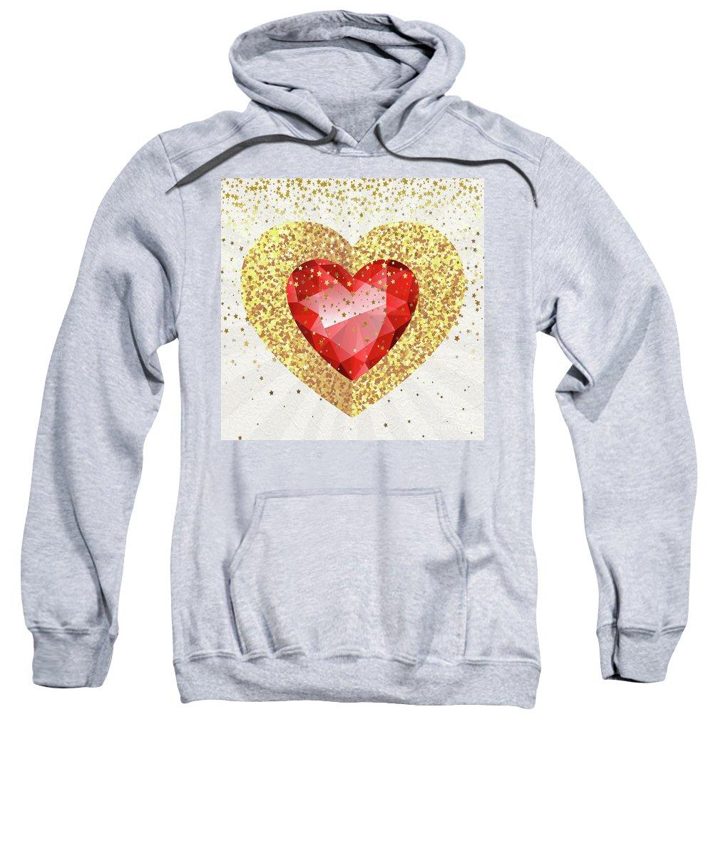 Gemstone Sweatshirt featuring the digital art Gemstone - 1 by Prar Kulasekara