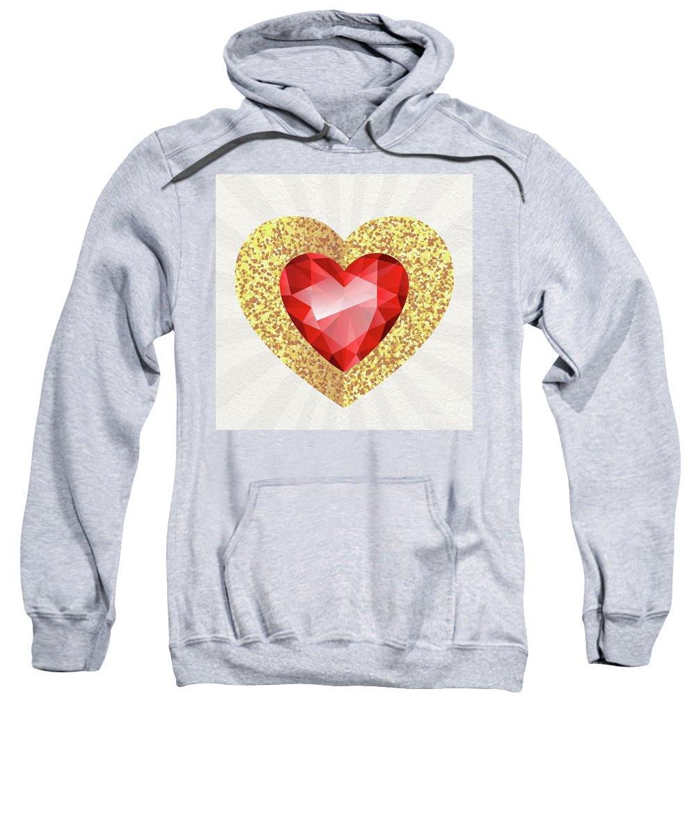 Gemstone Sweatshirt featuring the digital art Gemstone - 2 by Prar Kulasekara