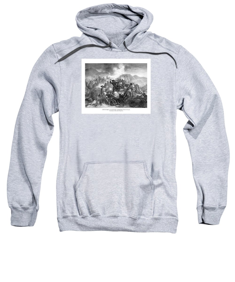 General Custer Sweatshirt featuring the drawing General Custer's Death Struggle by War Is Hell Store