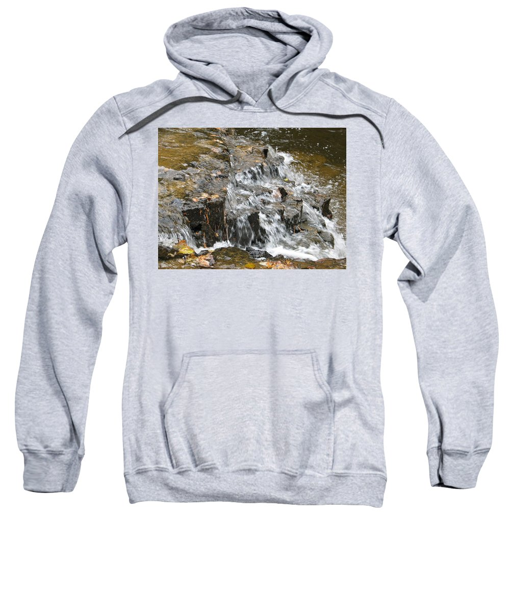 Waterfall Sweatshirt featuring the photograph Gentle Falls by Kelly Mezzapelle