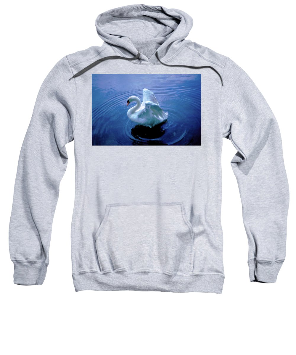Swan Sweatshirt featuring the photograph Gentle Strength by Marie Hicks