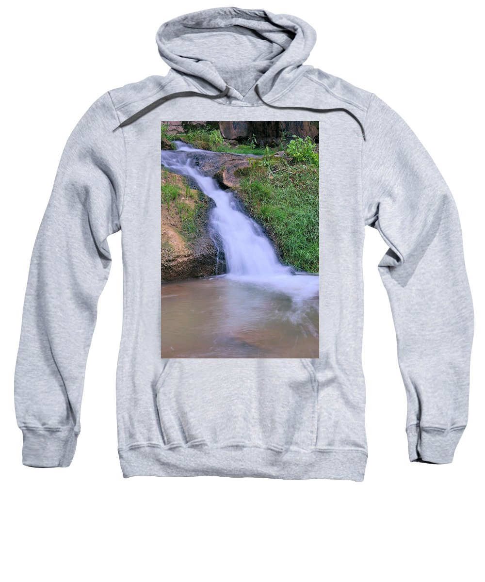 Waterfall Sweatshirt featuring the photograph Gently Flowing by Kristin Elmquist