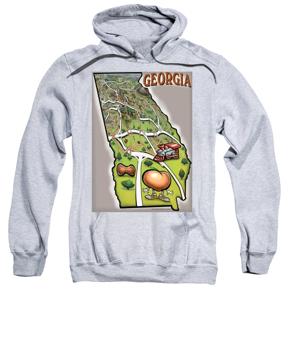 Georgia Sweatshirt featuring the painting Georgia by Kevin Middleton
