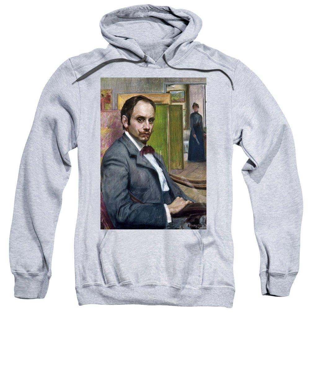 1900 Sweatshirt featuring the photograph Gerardo Murillo (1875-1964) by Granger