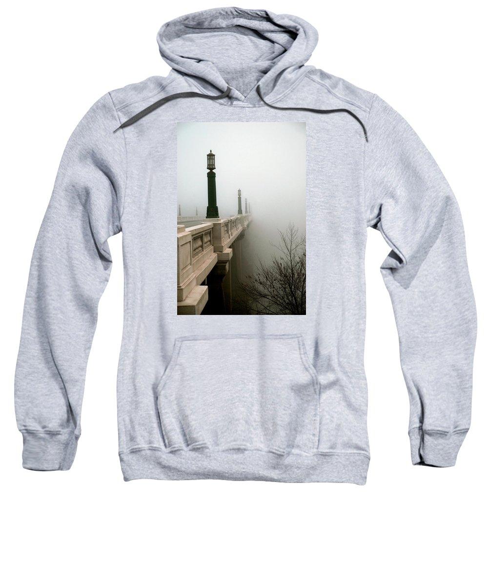 Bridge Sweatshirt featuring the photograph Gervais Street Bridge by Skip Willits