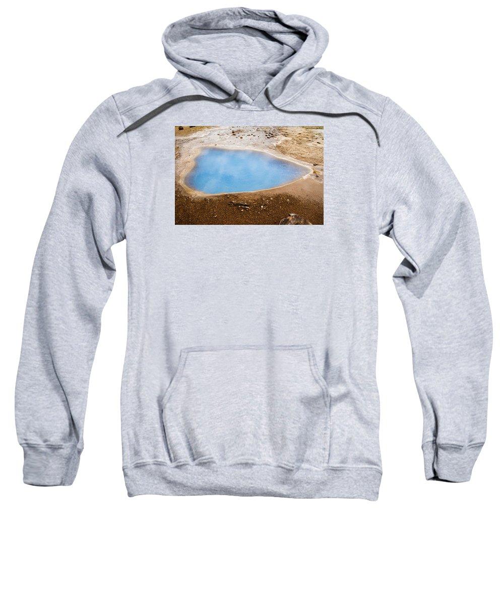 Beautiful Sweatshirt featuring the photograph Geysir Area by Claudio Bergero