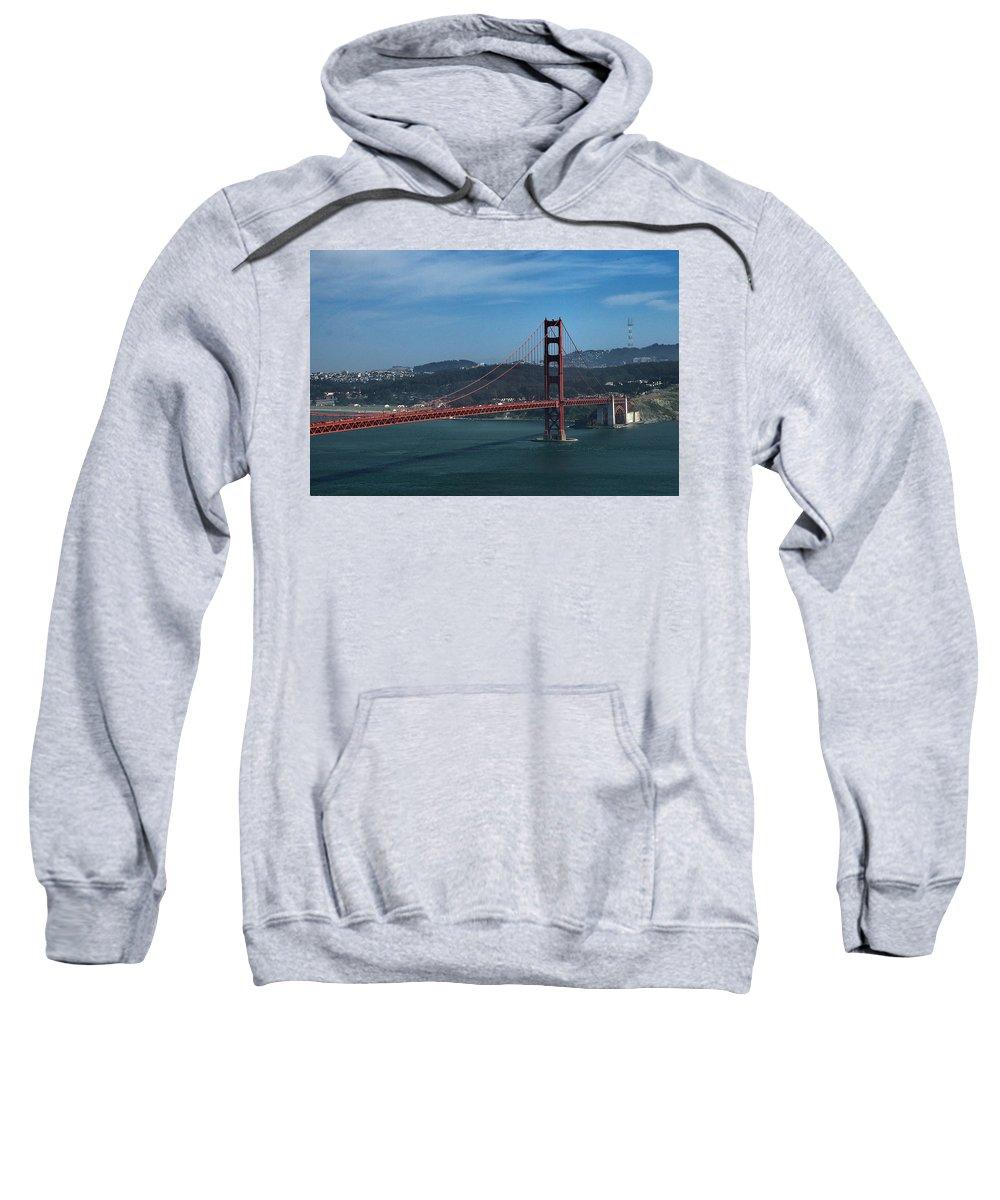 San Francisco Sweatshirt featuring the photograph Gg San Francisco by Michael Gordon