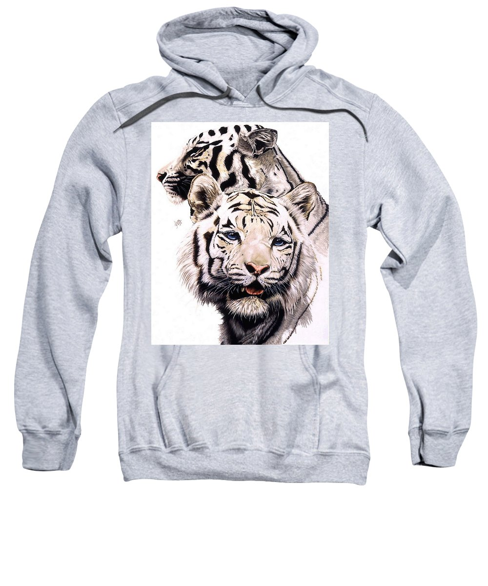 Tiger Sweatshirt featuring the drawing Ghost by Barbara Keith
