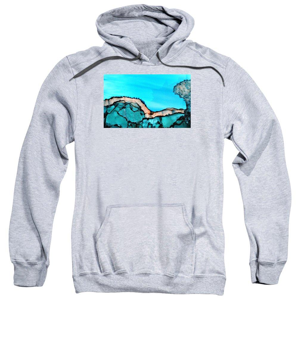 Landscape Sweatshirt featuring the painting Ghost Cat by Lynda Nolte