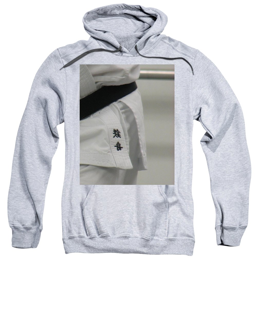Karate Sweatshirt featuring the photograph Gi by Kelly Mezzapelle