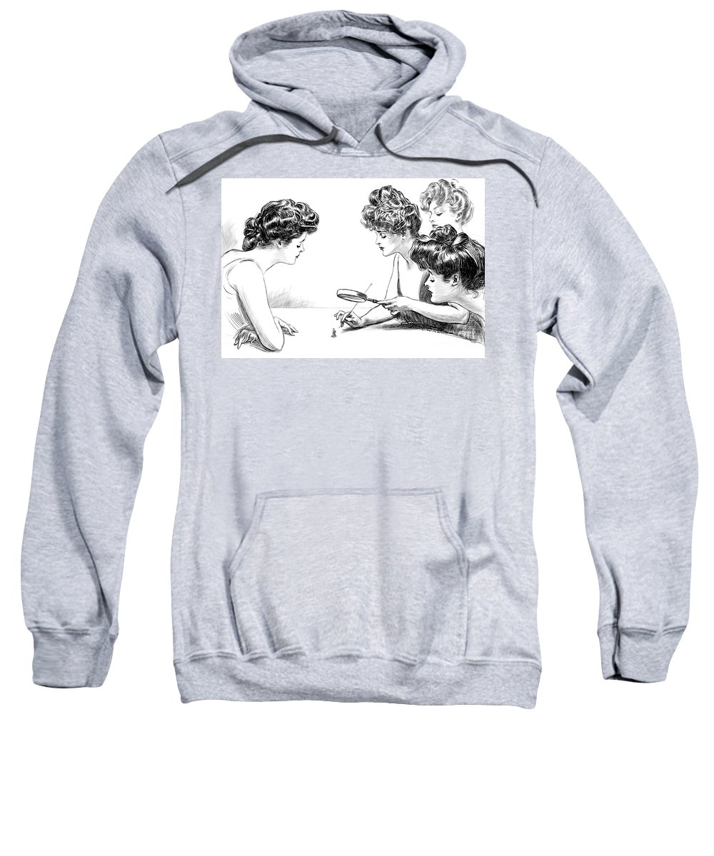 Psychology Sweatshirt featuring the photograph Gibson Girls 1904 by Science Source