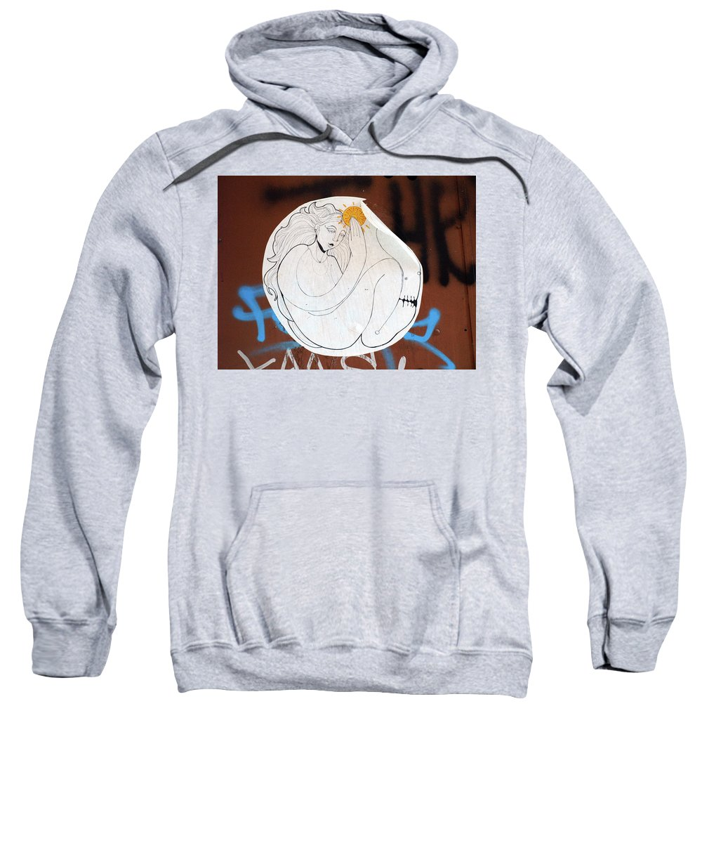 Graffiti Sweatshirt featuring the photograph Girl And Sun by Roger Muntes