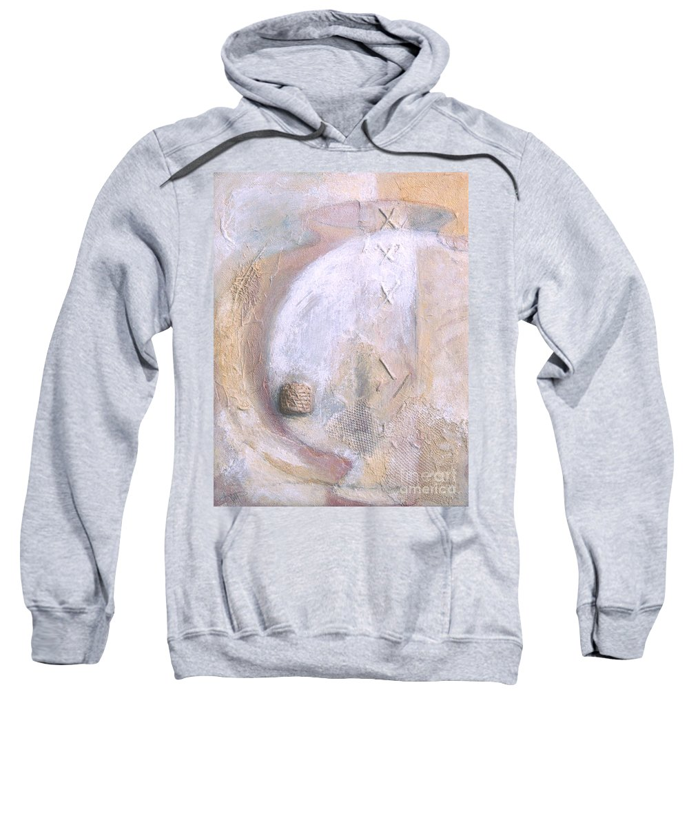 Collage Sweatshirt featuring the painting Give And Receive by Kerryn Madsen-Pietsch