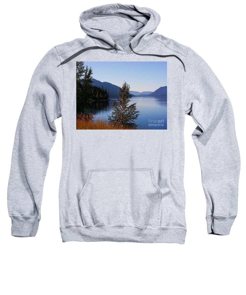 Lakes Sweatshirt featuring the photograph Glacier Lake by Marilyn Smith