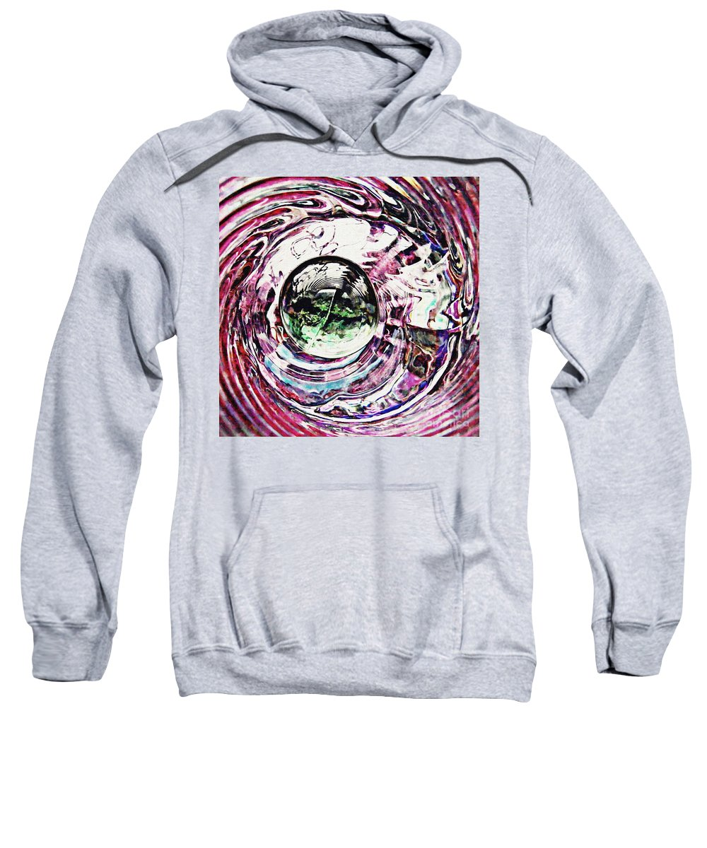 Glass Sweatshirt featuring the photograph Glass Abstract 515 by Sarah Loft