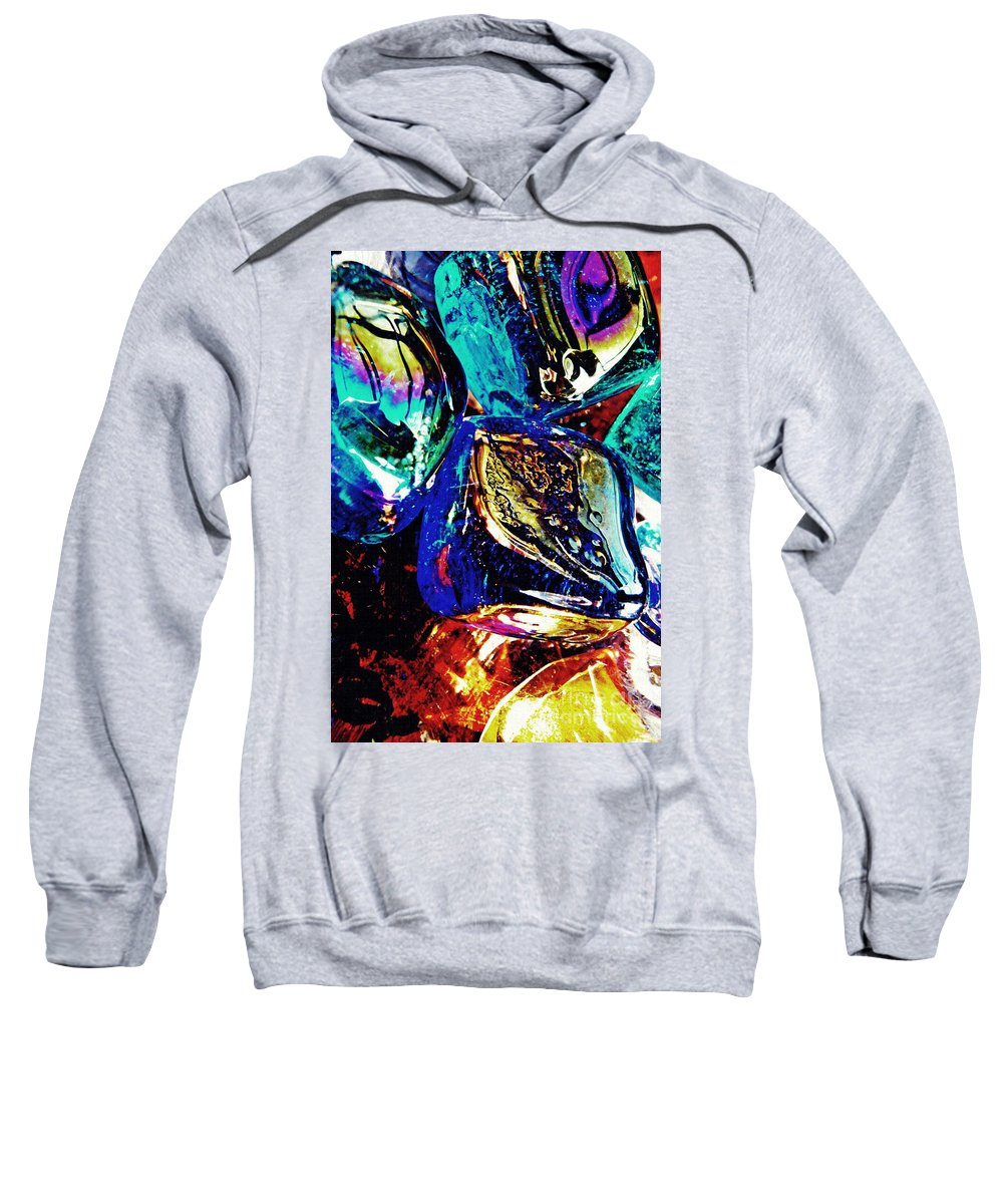 Glass Sweatshirt featuring the photograph Glass Abstract 687 by Sarah Loft